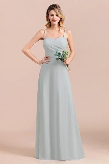 Mist Spaghetti-Straples Long Chiffon Bridesmaid Dresses Online_5