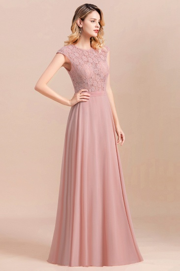 Elegant A-Line Sleeveless Dusty Rose Lace Bridesmaid Dress Online_5