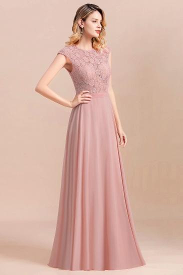 Elegant A-Line Sleeveless Dusty Rose Lace Bridesmaid Dress Online_5