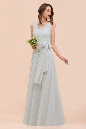 Gorgeous Ruffle Convertible Mist Chiffon Bridesmaid Dresses Online_7