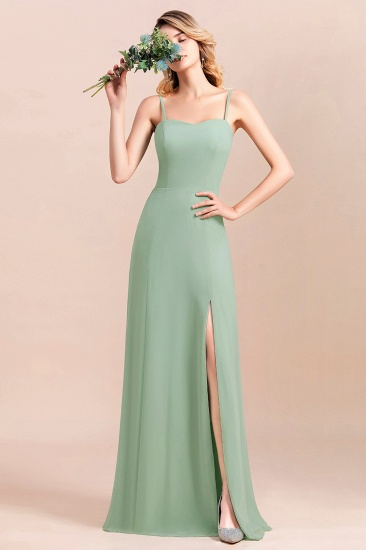 BMbridal Dusty Sage Spaghetti Straps Sweetheart Affordable Bridesmaid Dress_6