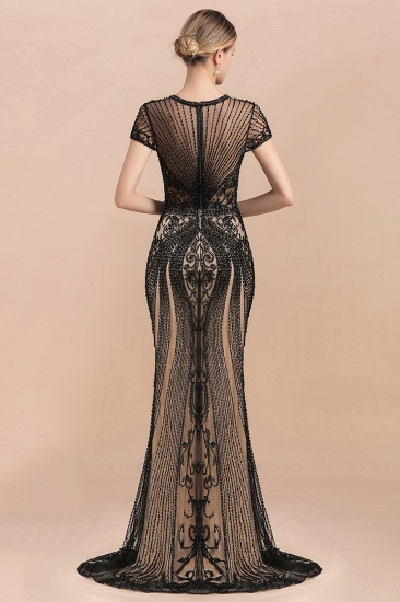 Luxury Mermaid All-Covered Beaded Prom Dress_2