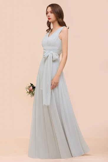 Gorgeous Ruffle Convertible Mist Chiffon Bridesmaid Dresses Online_5