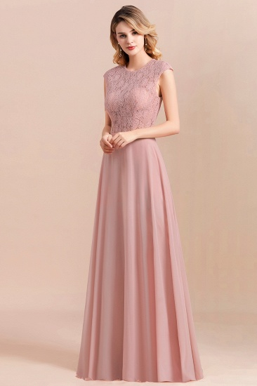 Elegant A-Line Sleeveless Dusty Rose Lace Bridesmaid Dress Online_6