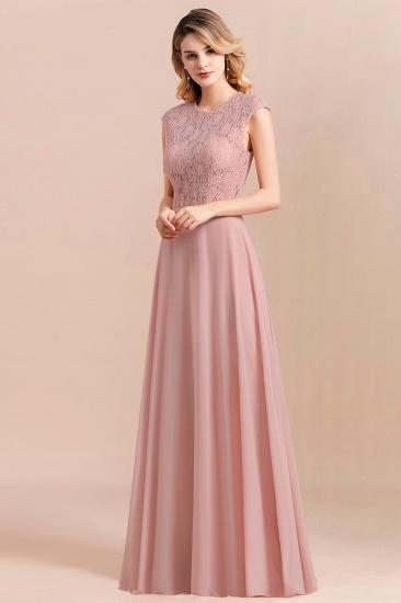 Elegant A-Line Sleeveless Dusty Rose Lace Bridesmaid Dress Online_6