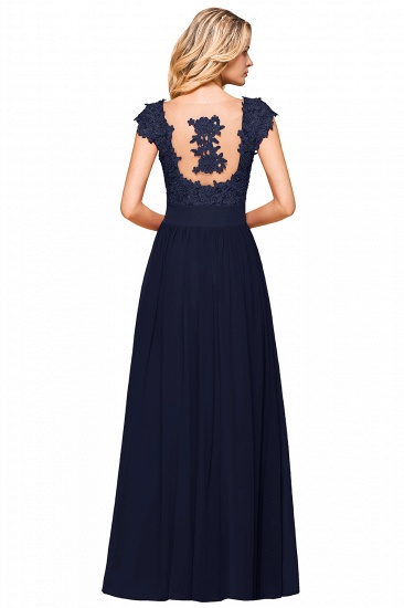 BMbridal Elegant Long Chiffon Prom Dress With Lace Appliques On Sale_23