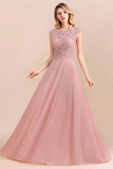 Elegant A-Line Sleeveless Dusty Rose Lace Bridesmaid Dress Online_7