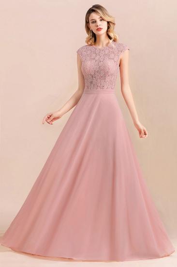 Elegant A-Line Sleeveless Dusty Rose Lace Bridesmaid Dress Online_7
