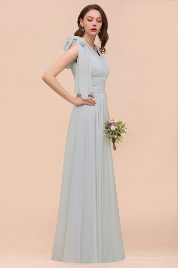 Gorgeous Ruffle Convertible Mist Chiffon Bridesmaid Dresses Online_6