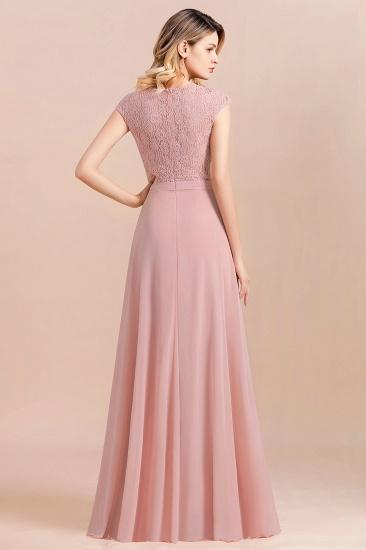 Elegant A-Line Sleeveless Dusty Rose Lace Bridesmaid Dress Online_3