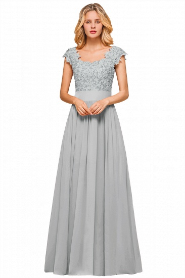 BMbridal Elegant Long Chiffon Prom Dress With Lace Appliques On Sale_4
