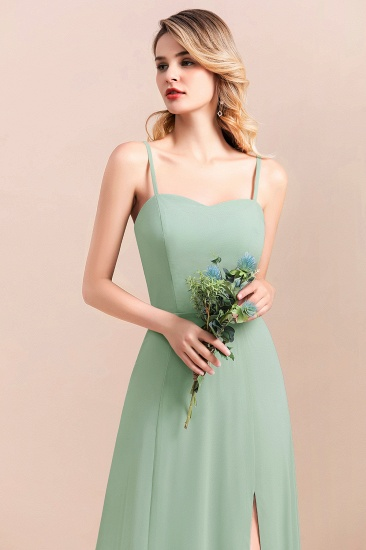 Dusty Sage Spaghetti Straps Sweetheart Affordable Bridesmaid Dress_8