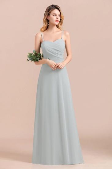 Mist Spaghetti-Straples Long Chiffon Bridesmaid Dresses Online_4