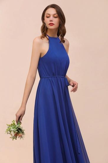 BMbridal Gorgeous Affordable Chiffon Ruffle Royal Blue Bridesmaid Dress_9