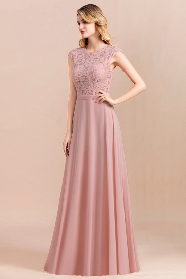 Elegant A-Line Sleeveless Dusty Rose Lace Bridesmaid Dress Online_9
