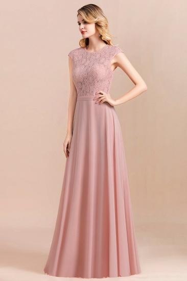 Elegant A-Line Sleeveless Dusty Rose Lace Bridesmaid Dress Online_9