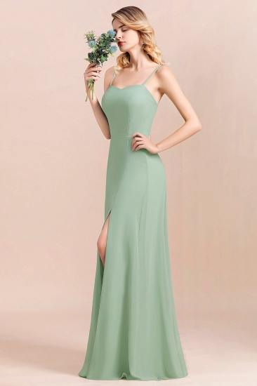 BMbridal Dusty Sage Spaghetti Straps Sweetheart Affordable Bridesmaid Dress_4