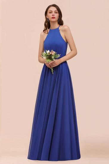 BMbridal Gorgeous Affordable Chiffon Ruffle Royal Blue Bridesmaid Dress_6