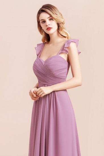 BMbridal Glamorous Sweetheart Ruffle Wisteria Chiffon Bridesmaid Dresses Affordable_9