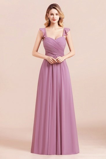 BMbridal Glamorous Sweetheart Ruffle Wisteria Chiffon Bridesmaid Dresses Affordable_6
