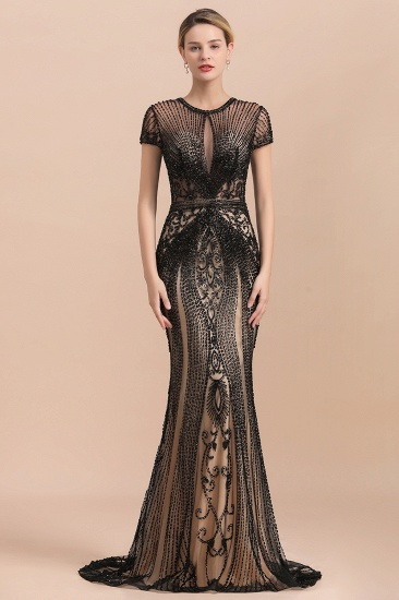 Luxury Mermaid All-Covered Beaded Prom Dress_3