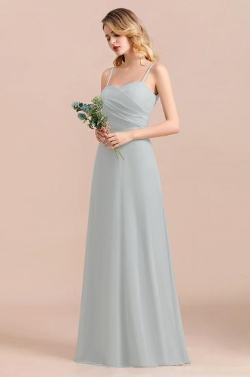 Mist Spaghetti-Straples Long Chiffon Bridesmaid Dresses Online_7