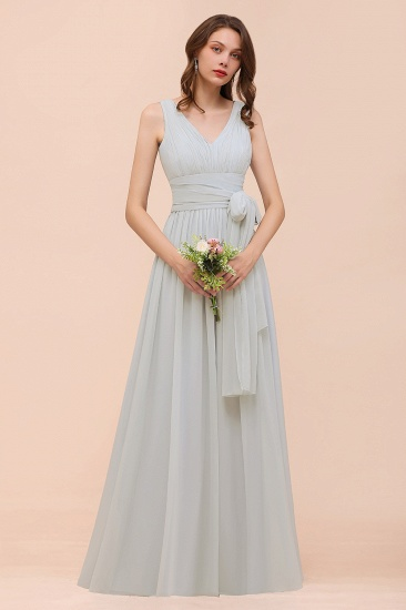 Gorgeous Ruffle Convertible Mist Chiffon Bridesmaid Dresses Online_4