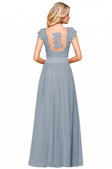 BMbridal Elegant Long Chiffon Prom Dress With Lace Appliques On Sale_18