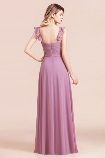 BMbridal Glamorous Sweetheart Ruffle Wisteria Chiffon Bridesmaid Dresses Affordable_3