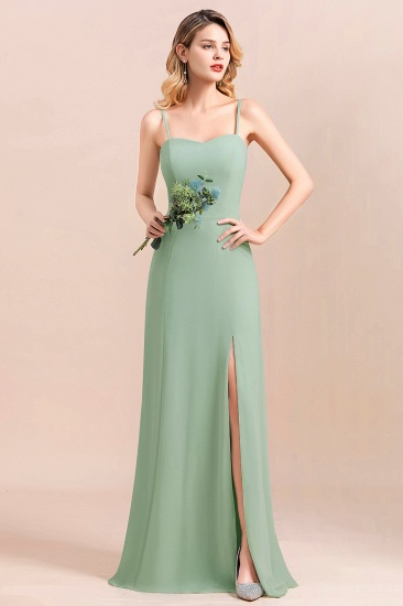 BMbridal Dusty Sage Spaghetti Straps Sweetheart Affordable Bridesmaid Dress_5