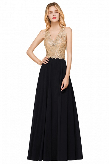 BMbridal Gorgeous V-Neck Burgundy Prom Dress Long Sleeveless Evening Gowns With Appliques_6