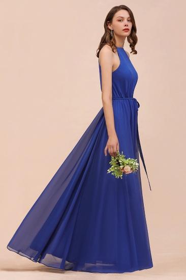 BMbridal Gorgeous Affordable Chiffon Ruffle Royal Blue Bridesmaid Dress_5