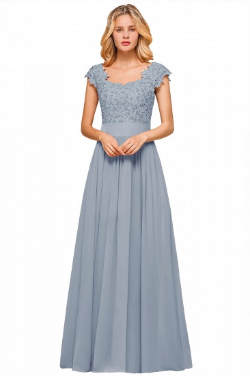 BMbridal Elegant Long Chiffon Prom Dress With Lace Appliques On Sale_5