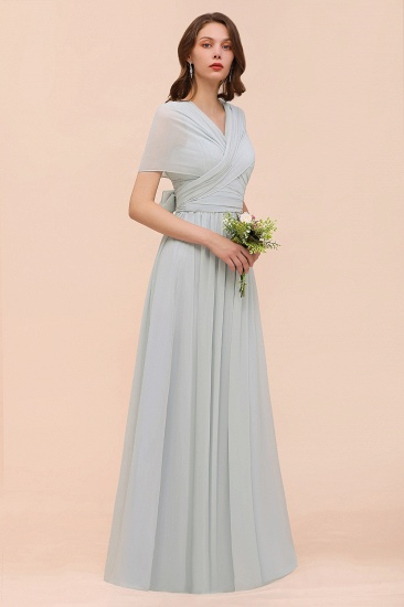 Gorgeous Ruffle Convertible Mist Chiffon Bridesmaid Dresses Online_9