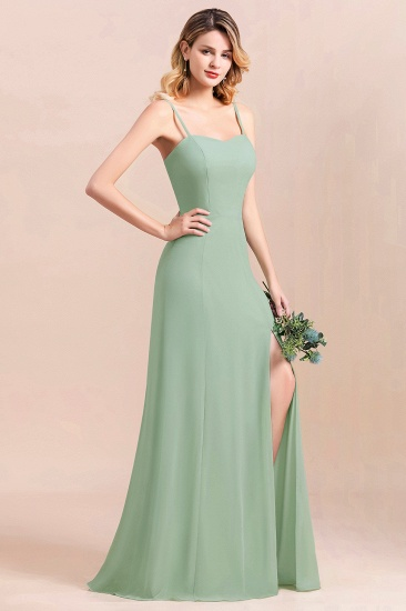 BMbridal Dusty Sage Spaghetti Straps Sweetheart Affordable Bridesmaid Dress_2
