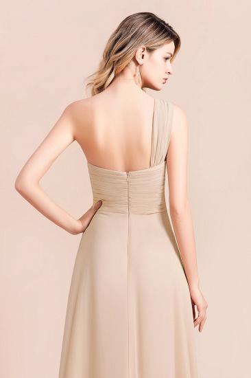 BMbridal Chic One Shoulder Ruffle Champagne Chiffon Bridesmaid Dress_9
