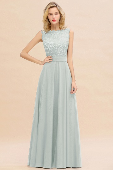 Exquisite Scoop Chiffon Lace Bridesmaid Dresses with V-Back_38