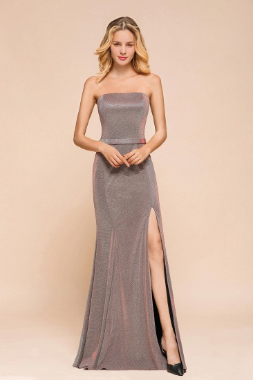 Stunning Strapless Long Prom Dress With Split Online_1