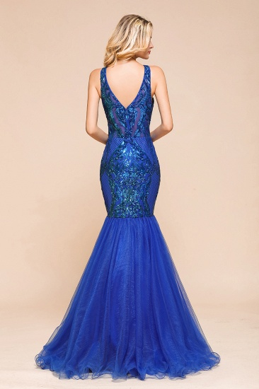 Gorgeous Royal Blue Mermaid Prom Dress Long Sequins Evening Party Gowns Online_3