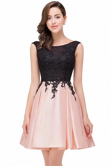 BMbridal Short A Line Applique Tutu Prom Party Dress_3