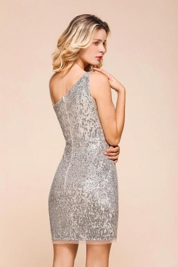Gorgeous One Shoulder Sequins Short Prom Dress Online_9