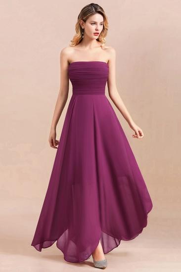 Gorgeous Strapless Ruffle Bridesmaid Dress with Petal Hemline_5
