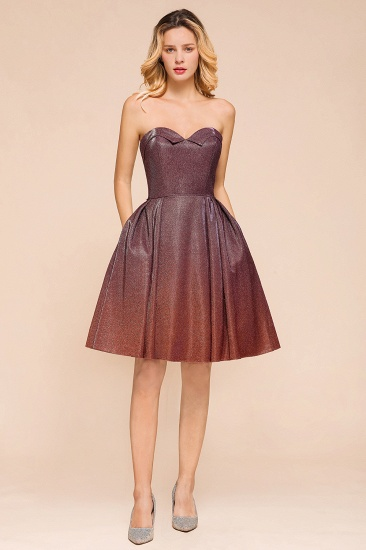 Ombre Sequins Sweetheart Short Prom Dresses Online_4