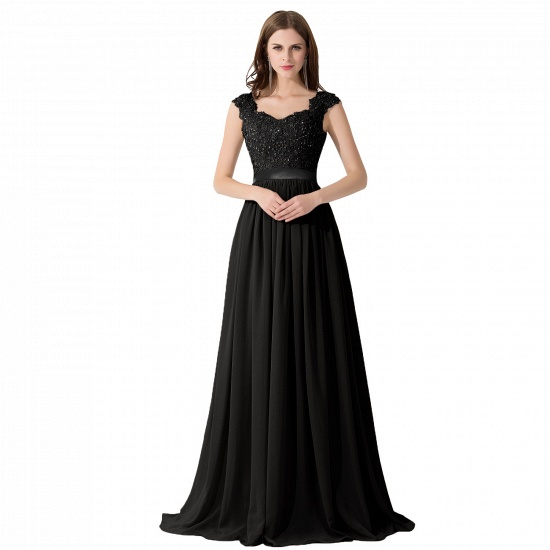 BMbridal A-line V Neck Chiffon Bridesmaid Dress with Appliques_7