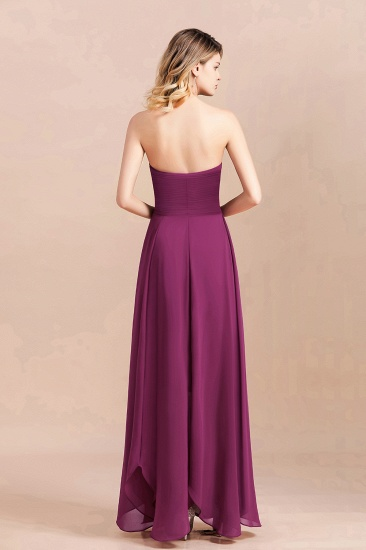 Gorgeous Strapless Ruffle Bridesmaid Dress with Petal Hemline_3