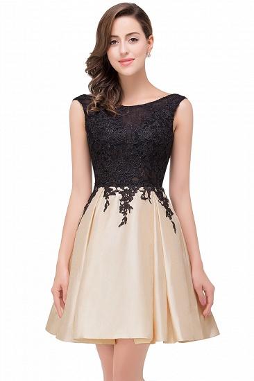 BMbridal Short A Line Applique Tutu Prom Party Dress_1