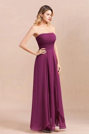 Gorgeous Strapless Ruffle Bridesmaid Dress with Petal Hemline_4