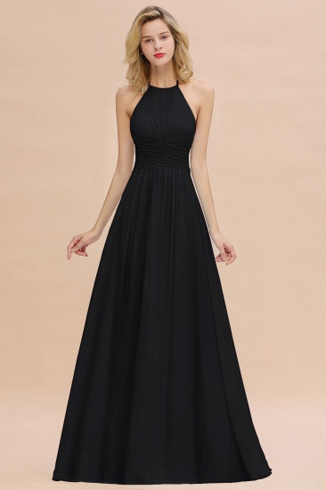 Glamorous Halter Backless Long Affordable Bridesmaid Dresses with Ruffle_29