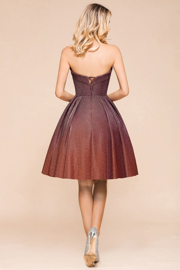 Ombre Sequins Sweetheart Short Prom Dresses Online_3