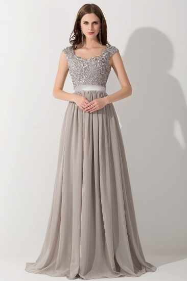 BMbridal A-line V Neck Chiffon Bridesmaid Dress with Appliques